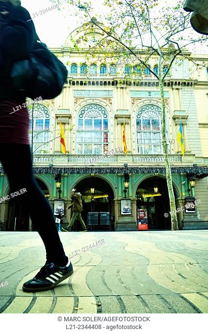 Gran Teatre del Liceu - Liceu Theater. Barcelona, Catalonia, Spain