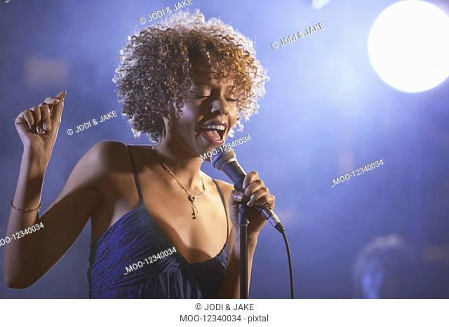 Jazz Singer Performing in Club