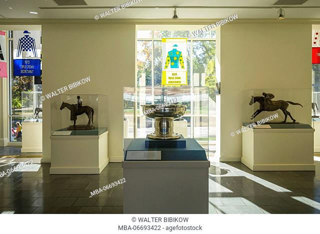 USA, New York, Hudson Valley, Saratoga Springs, National Museum of Horse Racing and Hall of Fame, The Chamblett Memorial Trophy
