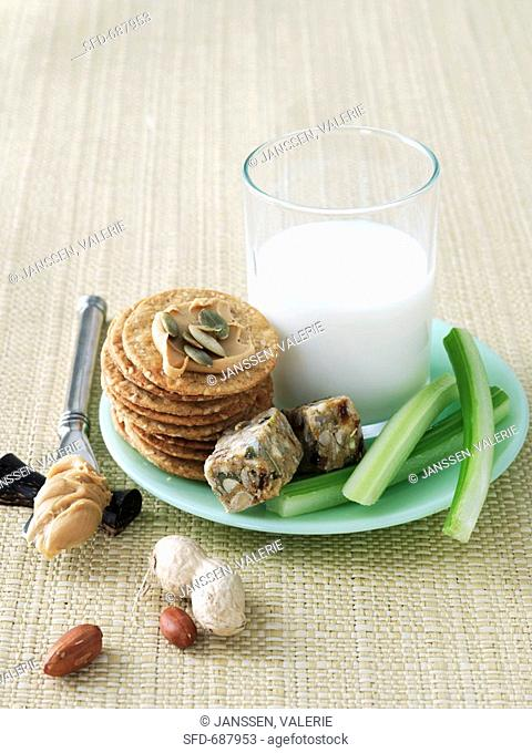 Energy Snack Food with Milk