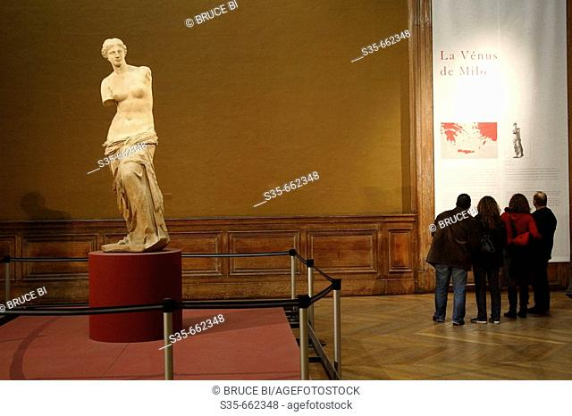 Venus de Milo in Musee du Louvre. Paris. France