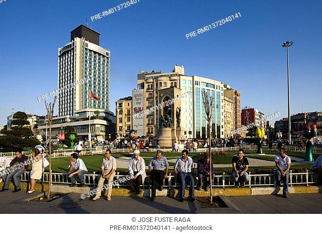 Taksim Square in Istanbul, Turkey, Europe