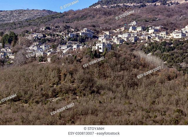 Panoramic views of village Vitsa, Zagori, Epirus, Greece