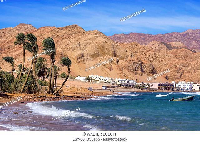 Der Strand von Dahab Assalah