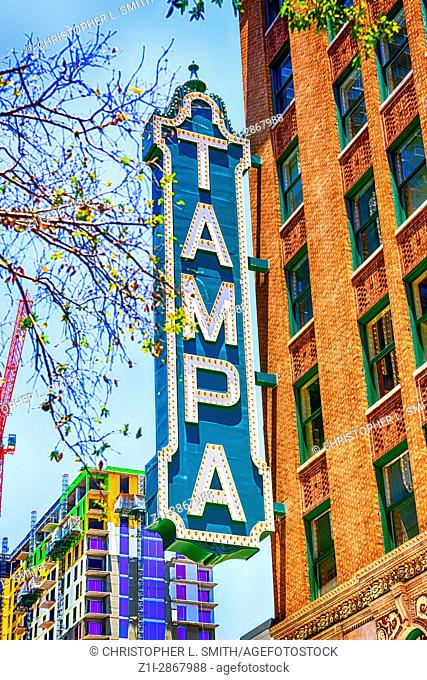 The Tampa Theater and Office building on Franklin Street in this Florida city
