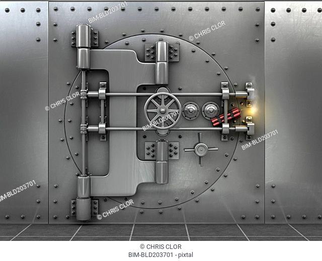 Dynamite on metal safe door