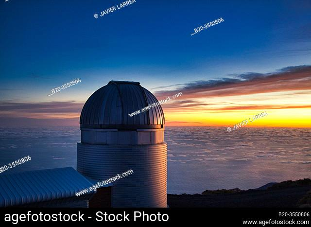 The Mercator Telescope, Roque de los Muchachos Observatory, La Palma, Canary Islands, Spain...The Mercator Telescope is a 1