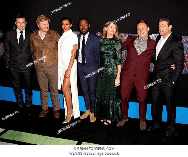 Celebrities attend World Premiere of Game Night at TCL Chinese Theater. Featuring: Jason Bateman, Jesse Plemons, Kylie Bunbury, Lamorne Morris, Sharon Horgan