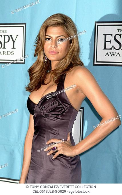 Eva Mendes in the press room for 2005 ESPY Awards, The Kodak Theatre, Los Angeles, CA, July 13, 2005. Photo by: Tony Gonzalez/Everett Collection