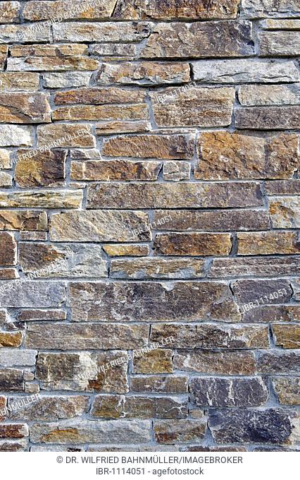 Stone wall, brick facade, gneiss wall