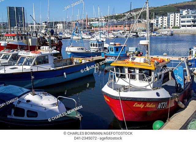 europe, UK, Wales, Swansea fishing boats