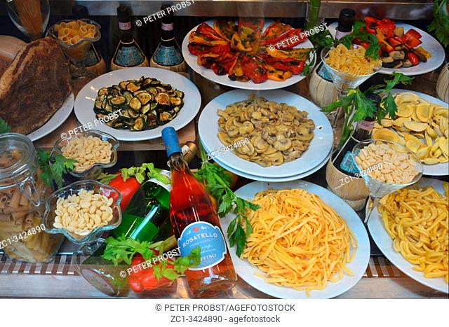 Food from Italy on a market in Rome - Italy