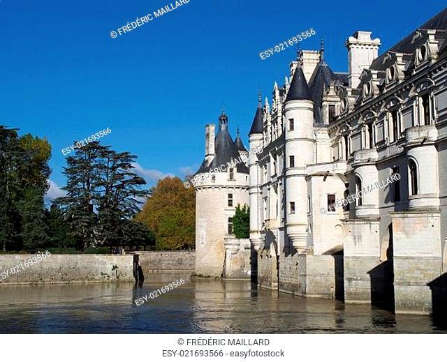 Chenonceau castle , Loire valley , France