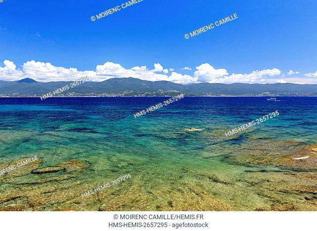 France, Corse du Sud, Gulf of Ajaccio, Ajaccio, beach
