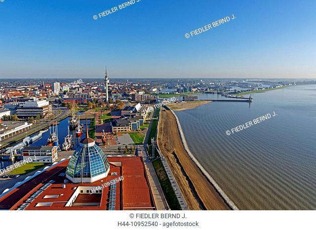 Europe, Germany, Bremen, Bremerhaven, am Strom, Weser, old harbour, port, Mediterraneo, German, ship journey museum, Alfred Wegener institute, museum ships