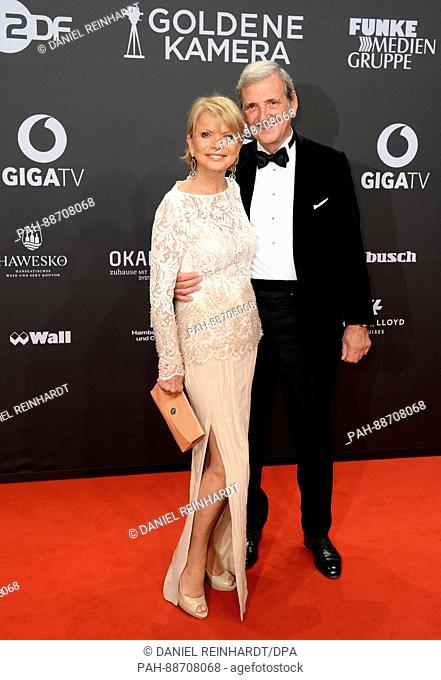 Actress Uschi Glas and husband DieterHermann arrive at the 52nd Golden Camera film & TV awards 2017 in Hamburg, Germany, 04 March 2017