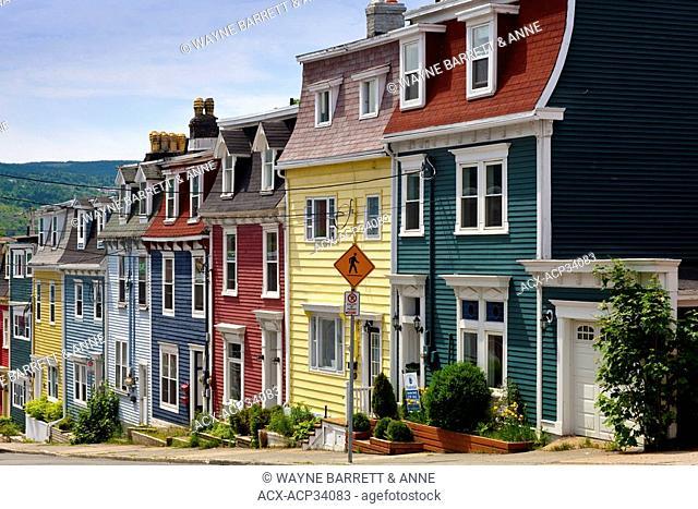 Row Houses in St. John's, Newfoundland and Labrador, Canada