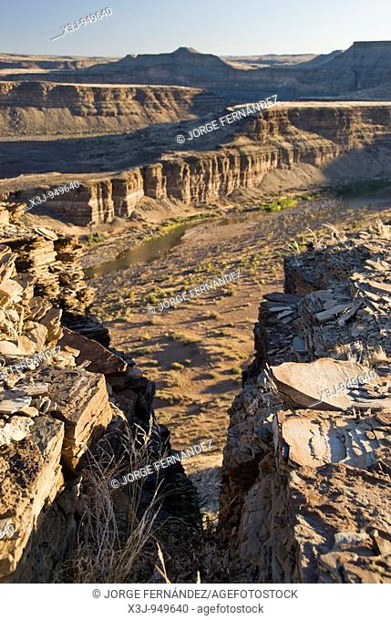 Landscape of the Fish River Canyon, Namibia, Africa