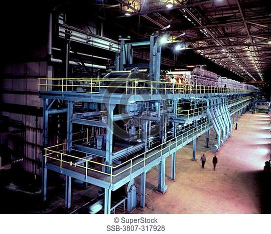 Interior of a steel factory