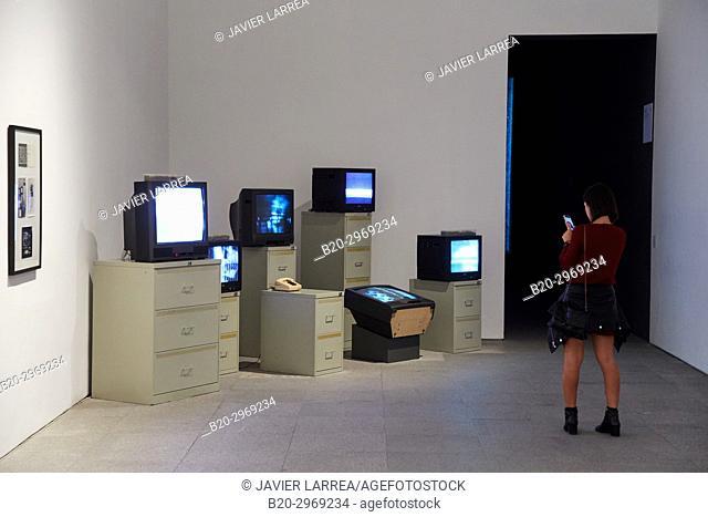 6 TV Dé-Coll/age, 1963, Wolf Vostell, Museo Nacional Centro de Arte Reina Sofia, Madrid, Spain, Europe