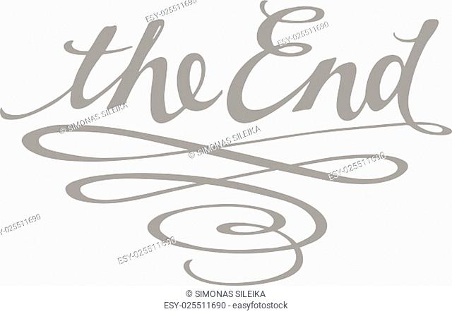 """Vector ornamental movie ending typography """"""""The End"""""""""""""""""""""""