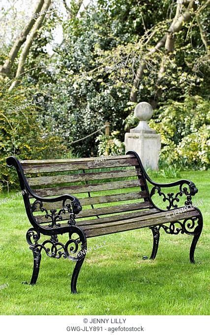 Terrific Bench Secret Garden April Stock Photos And Images Age Andrewgaddart Wooden Chair Designs For Living Room Andrewgaddartcom