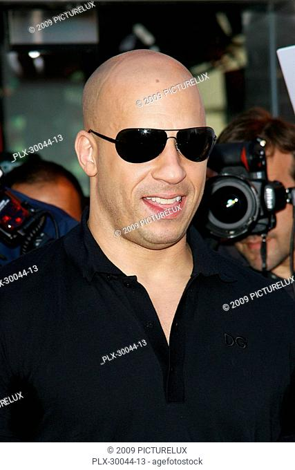Vin Diesel at the Revs Up Home Entertainment Release Premiere of Los Bandoleros- Arrivals held at the AMC Cinemas, Universal City Walk in Universal City