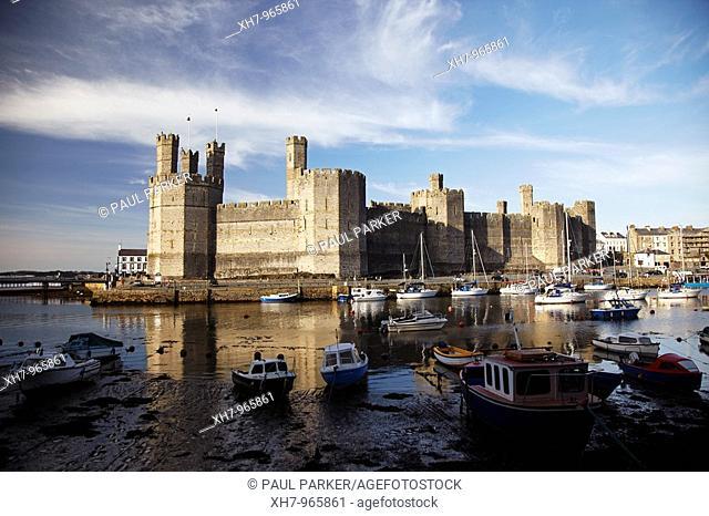 Caernarfon Castle, North Wales, UK