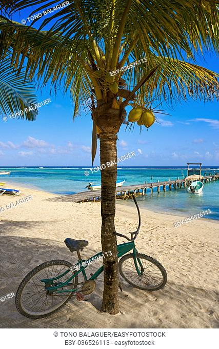 Mahahual Caribbean beach in Costa Maya of Mayan Mexico