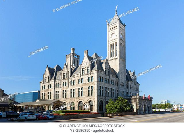 The former Nashville Union Station, now a hotel in downtown Nashville, Tennessee