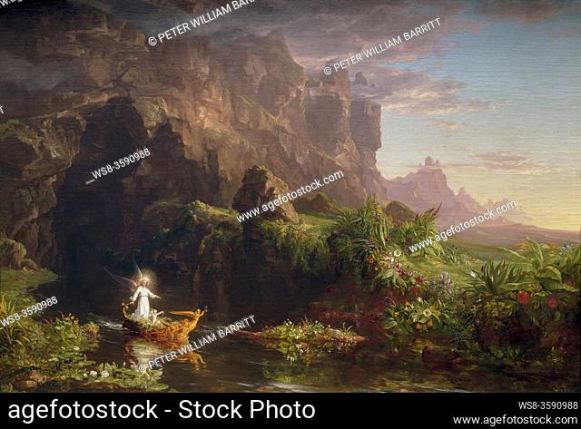 The Voyage of Life: Childhood, Thomas Cole, 1842, National Gallery of Art, Washington DC, USA, North America