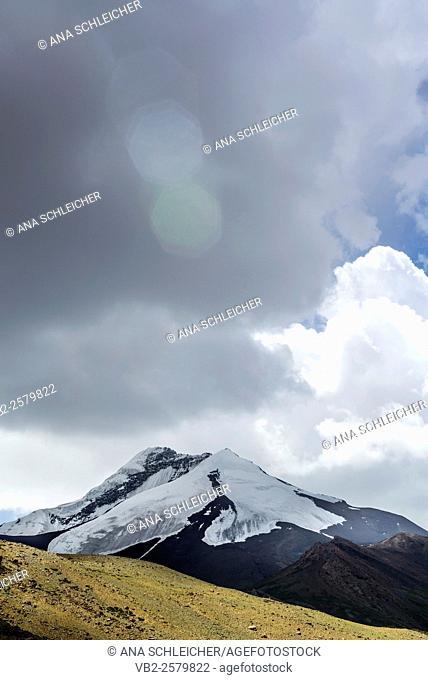 Snowy peak. Trekking in Markha valley (Laddakh, India)