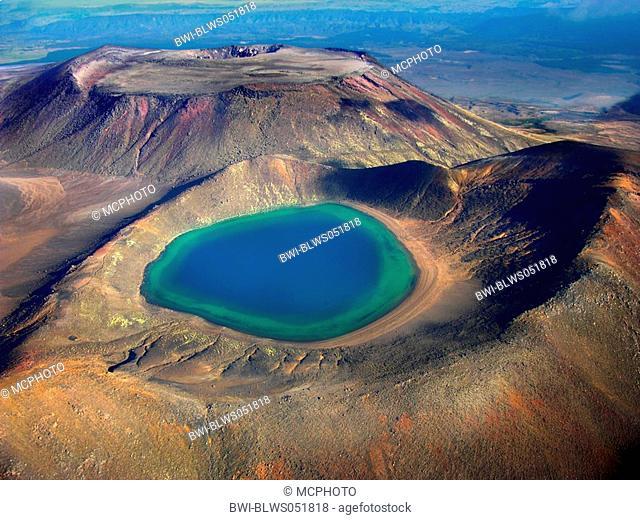crater lake of the Tongariro, New Zealand, Tongariro National Park