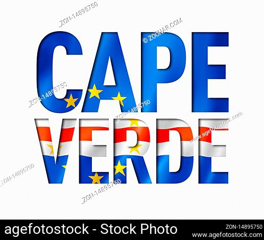 Cape Verde flag text font. National symbol background