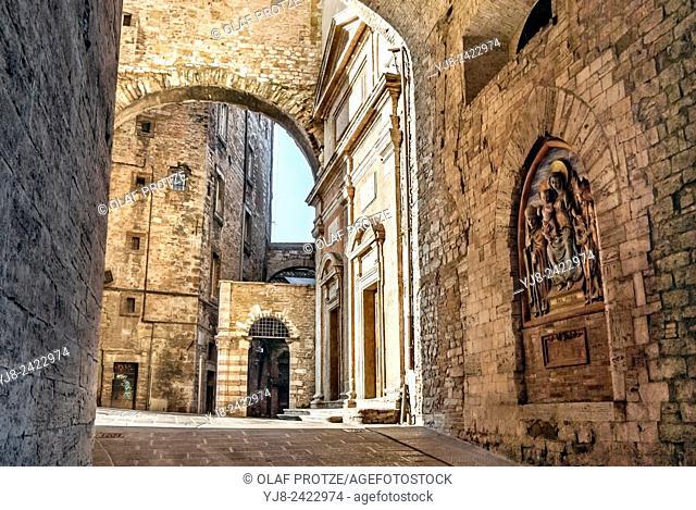 Arco Etrusco of Perugia in Umbria, Italy
