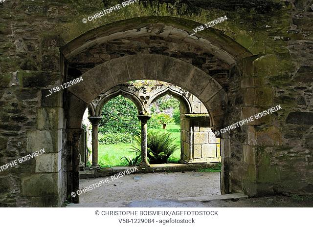 France, Cotes d'Armor, Abbey of Beauport, The cloister
