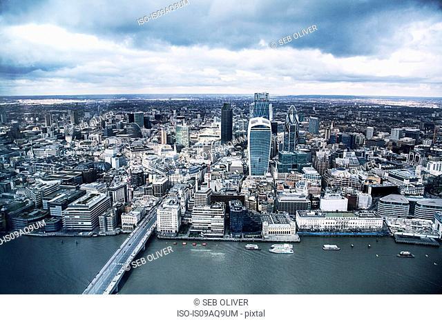 The Gherkin, River Thames, London, United Kingdom