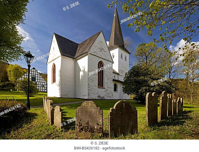 evangelic Church of the Cross Wiedenest, Germany, North Rhine-Westphalia, Bergisches Land, Bergneustadt