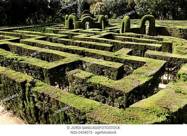 Labyrinth park Horta, in Barcelona. Plant maze