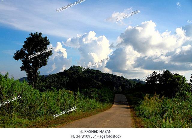 A Street leads towards the Chimbuk hill Bandarban, Bangladesh November 2010