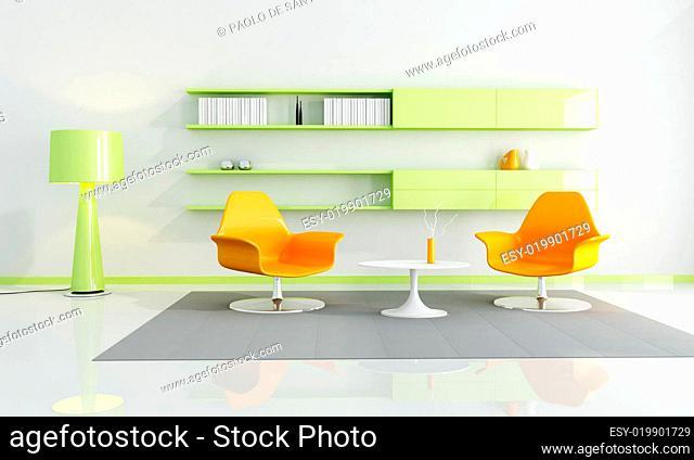 bright colored interior