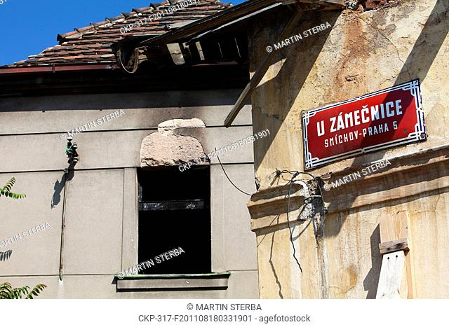 Dilapidation of Prague's famous old colony Budanka, placed in quarter Kosire, Smichov Pictured on August 18, 2011 CTK Photo/Martin Sterba