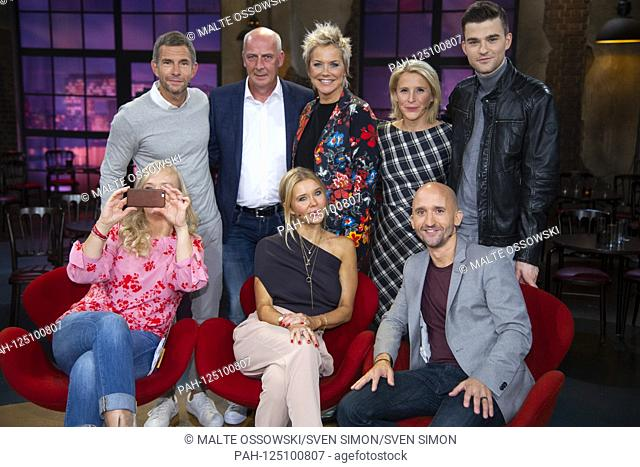 Back row from left: Mickey BEISENHERZ, Germany, presenter, Mario BASLER, Germany, former football player, Inka BAUSE, Germany, presenter, Susan LINK, Germany