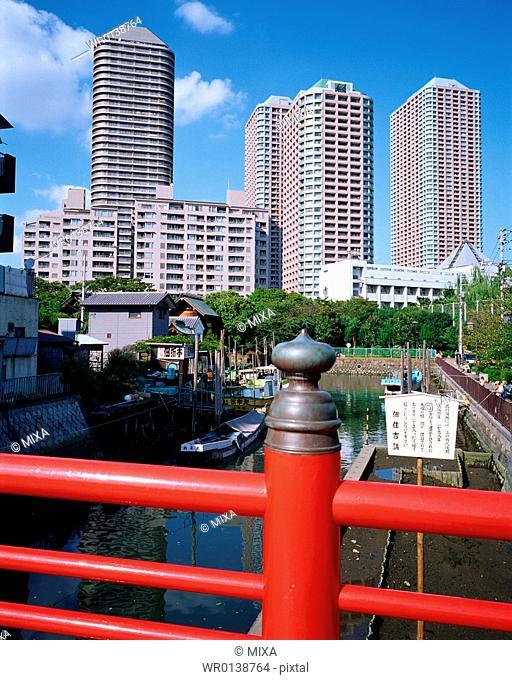 Bridge in Tsukudashima, Tokyo, Japan