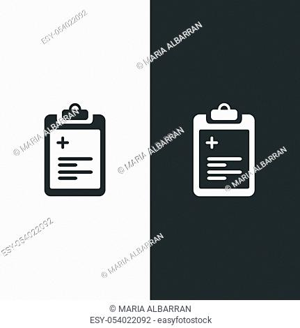 Pharmacy inventory list. Isolated image. Flat medicine vector illustration