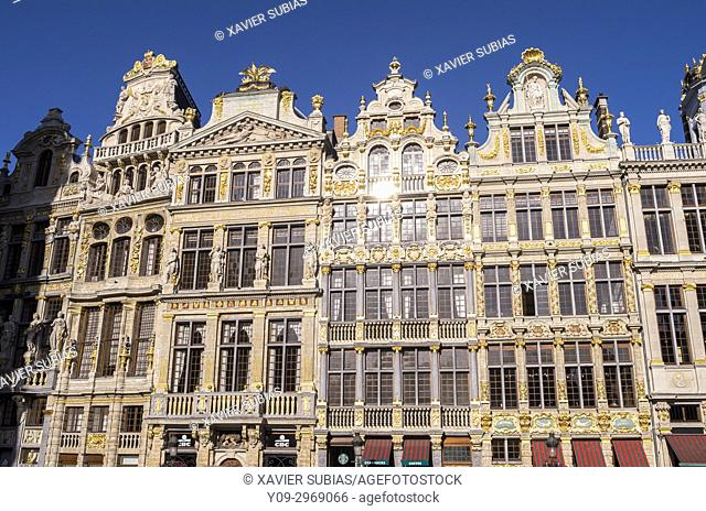 Houses of the Grand Place, Brussels, Belgium