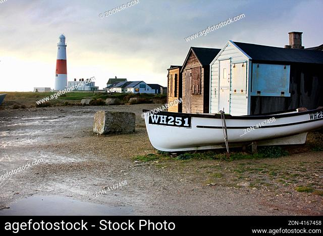 Fishing Huts at Portland Bill on Portland in Dorset