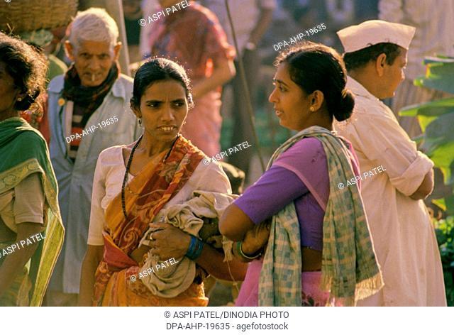 Local People at Market , Vasai , Maharashtra , India