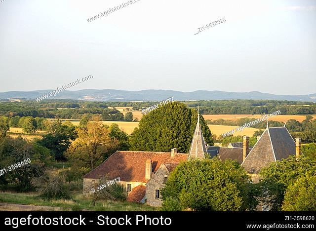 old castle in Bourgogne, France