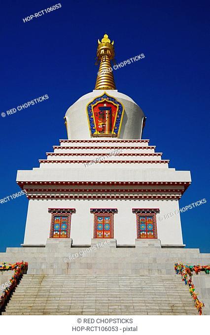 Low angle view of a pagoda, Bai Ta, Hohhot, Inner Mongolia, China